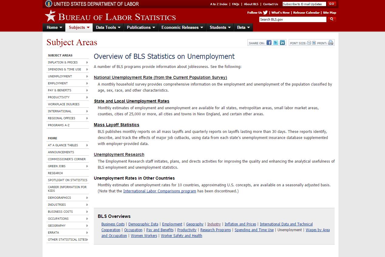 BLS Unemployment Stats